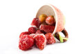 Freezed Strawberry In Strawberry Cup Stock Photos - 34966893