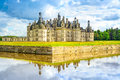Chateau De Chambord, Unesco Medieval French Castle And Reflection. Loire, France Stock Photos - 34969273