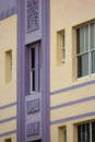 Detail Of A Classical Art Deco Facade On Ocean Drive In Miami Be Royalty Free Stock Photography - 34971467