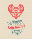 Retro Vintage Happy Valentines Day Greeting Card Royalty Free Stock Image - 34978496