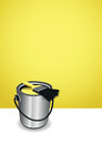 Yellow Paint Pot Background Royalty Free Stock Photos - 34980128