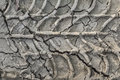 Dry Cracked Mud With Tire Tracks Stock Image - 34985011