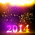 Happy New Year 2013 Colorful Celebration Vector De Royalty Free Stock Photography - 34987937