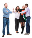 Group Of Happy Business People Stock Photo - 34989110