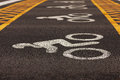 Road Markings Applied To Asphalt Royalty Free Stock Images - 34991549