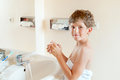 Boy Washes Hands Stock Photography - 34998142