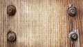 Old Brown Wooden Texture With Metal Screw Royalty Free Stock Photo - 35000255