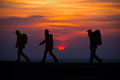 Hikers Silhouette Stock Photo - 35007800