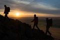 Hikers Silhouette Stock Image - 35007901