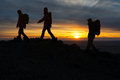 Hikers Silhouette Stock Images - 35008114