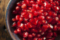 Organic Ripe Red Pomegranates Royalty Free Stock Photos - 35025558