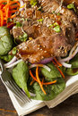 Asian Sliced Beef Salad Royalty Free Stock Photo - 35026295