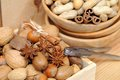 Nuts In Shells Royalty Free Stock Photography - 35031587