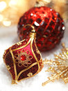 Red Christmas Ornaments Stock Photography - 35036342