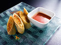 Spring Rolls And Sauce Stock Images - 35041084
