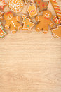 Homemade Various Christmas Gingerbread Cookies Royalty Free Stock Photography - 35053997