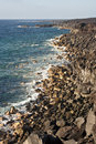 Vulcanic Coastline In Lanzarote Royalty Free Stock Photography - 35058287