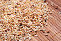 Chopped Hazelnuts Pieces Royalty Free Stock Photography - 35065397