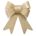 Gold Christmas Ornament Bow Tie Stock Photo - 35074490