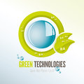 Green Technologies Icon With Water Drops Stock Images - 35085394