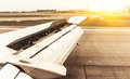 Aircraft Landing On The Runway Stock Photography - 35086532