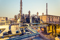 Chemical Plant At Twilight Royalty Free Stock Image - 35095076