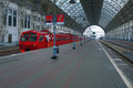 Train On The Covered Railway Station Stock Image - 35095891