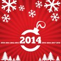 Happy New Year Greeting Card With Flat Icons. Royalty Free Stock Image - 35098716