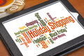 Holiday Shopping Word Cloud Stock Photo - 35107880