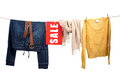 Women S Fashion Sale On The Clothesline Stock Images - 35114194