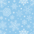 Christmas Seamless Pattern From Snowflakes Royalty Free Stock Photography - 35116867