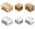 Free Shipping Boxes Royalty Free Stock Photography - 35120487