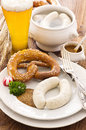 Bavarian White Sausage Breakfast Stock Images - 35121414
