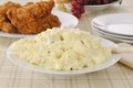 Potato Salad And Fried Chicken Royalty Free Stock Images - 35133419