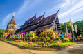 Old Wooden Church Of Wat Lok Molee Chiangmai Thailand Stock Photography - 35137322