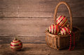 Christmas Balls On Wooden Background Royalty Free Stock Photo - 35139895
