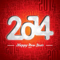 Vector Happy New Year 2014 Celebration Design On A Typographic Background Royalty Free Stock Photos - 35141878