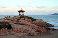 Chinese Pavilion On The Beach Royalty Free Stock Photo - 35143905