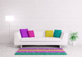 Modern Interior With Sofa 3d Render Stock Photo - 35158100