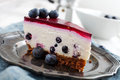 Blueberry Cheesecake Stock Images - 35158654