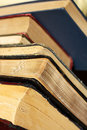 Towering Collection Of Vintage Hardcover Books Stock Photos - 35160913