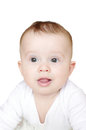 Portrait Of Nice Six-months Baby On White Background Stock Photo - 35172070