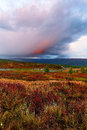 Clouds Tundra Evening Royalty Free Stock Image - 35176016