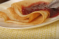 Pancakes With Jam Stock Photography - 35195152