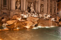 Trevi Fountain (Fontana Di Trevi)  By Night, Rome. One Of The Most Famous Tourist Attractions Stock Photos - 35197143