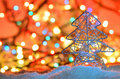 Silver Wired Christmas Tree Stock Photos - 35201303