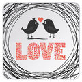 Love Birds Card2 Royalty Free Stock Images - 35203669