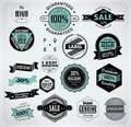 Premium Quality, Guarantee And Sale Labels Stock Images - 35215754