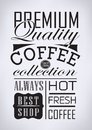 Set Of Coffee , Cafe Typographic Elements Royalty Free Stock Image - 35217316