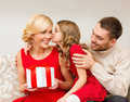 Adorable Child Kisses Her Mother Stock Photos - 35224363